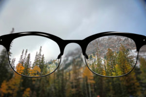 Clear Vision early fall in rocky mountains